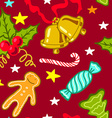 Cartoon Christmas seamless pattern vector image