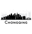 Chongqing City skyline black and white silhouette vector image vector image