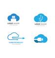 cloud technology logo vector image vector image