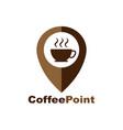 coffee cup house cafe logo design pointer vector image