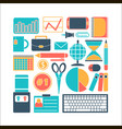 collection of colors of business elements office vector image vector image