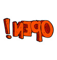 comic cartoon open symbol vector image vector image
