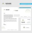 cutter business letterhead envelope and visiting vector image vector image