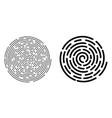 dashed spiral line vector image