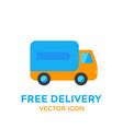 delivery icon on white vector image vector image