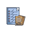 documents paper information with passport id vector image vector image