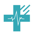 donor mark medical cross web icon clinic vector image