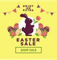 easter sale poster for online shopping delivery or vector image
