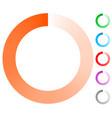 fading circle preloader progress indicator vector image vector image