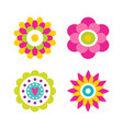 flowers in blossom collection vector image vector image