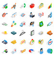 fund icons set isometric style vector image vector image
