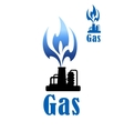 Gas refinery and mining industry vector image vector image