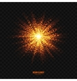 Glowing Golden Particles Explosion Effect vector image vector image