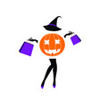 halloween sale fashion girl vector image vector image