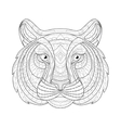 Hand drawn doodle outline tiger vector image vector image