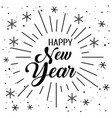 happy new year tradition with stars vector image vector image