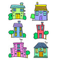 house set collection stock colorful vector image vector image