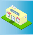 isometric flat store vector image