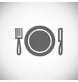 Knife plate fork vector image vector image