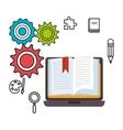 laptop school set elements design vector image vector image