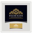letter r logo design concept royal luxury gold vector image vector image