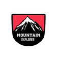 mountain explorer emblem template with mountain vector image vector image