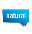 natural blue 3d realistic paper speech bubble vector image vector image