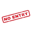 No Entry Rubber Stamp vector image vector image