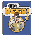Oh Boy Beer design vector image vector image