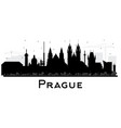 prague czech republic city skyline silhouette vector image vector image
