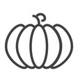 Pumpkin line icon fruit and vegetable