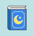 quran book ramadan filled outline icon vector image vector image