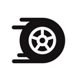 racing car wheel icon vector image