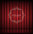 red curtains and vintage frame with space for text vector image vector image