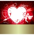 Red design with hearts vector image
