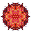 red mandala ethnic decorative elements vector image vector image