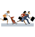 Returning from maternity leave vector image vector image
