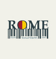 rome city lettering vector image
