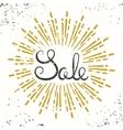 Sale Retro Banner Design Grunge Lettering vector image vector image