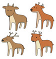 set of deer vector image