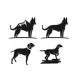 silhouette animal dog logo design vector image