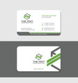 simple and abstract business card vector image vector image