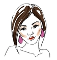 Sketch of the woman vector image