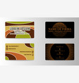 stylish metro business card template vector image vector image