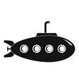 submarine icon simple style vector image vector image