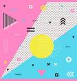 trendy geometric elements memphis cards vector image