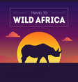 wild africa banner template beautiful african vector image vector image