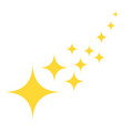 yellow star glitter icons flat asterisks vector image