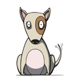 Funny cartoon bull terrier dog vector image