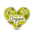 organic food icon stock vector image
